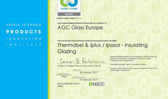 """Los vidrios aislantes de la empresa AGC certificados """"Cradle to Cradle Bronze"""""""